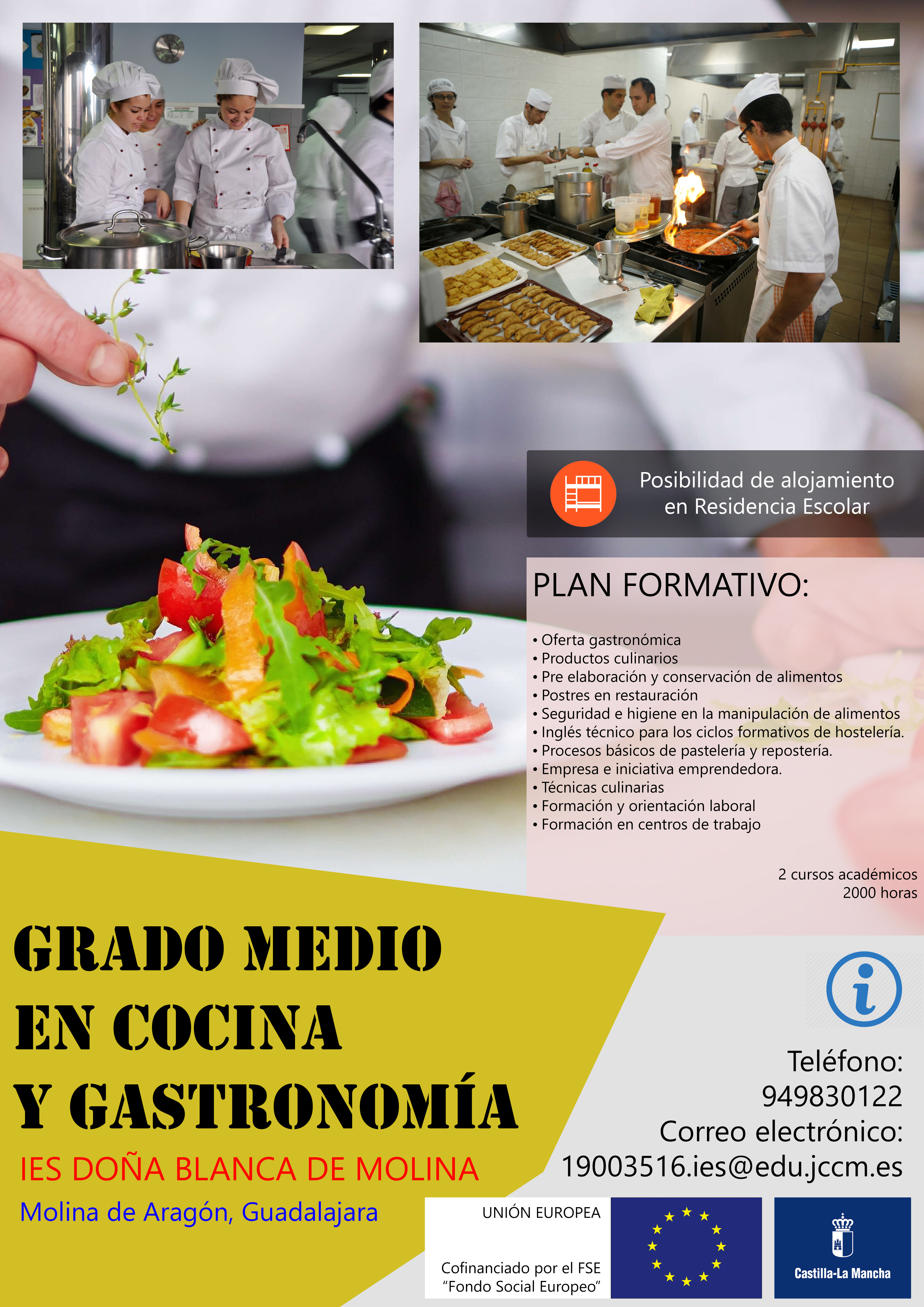 Grado Medio Técnico En Cocina Y Gastronomía Ies Molina De
